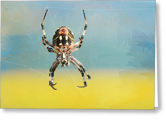 Arachnids Greeting Cards - Jeepers Creepers Greeting Card by Fraida Gutovich