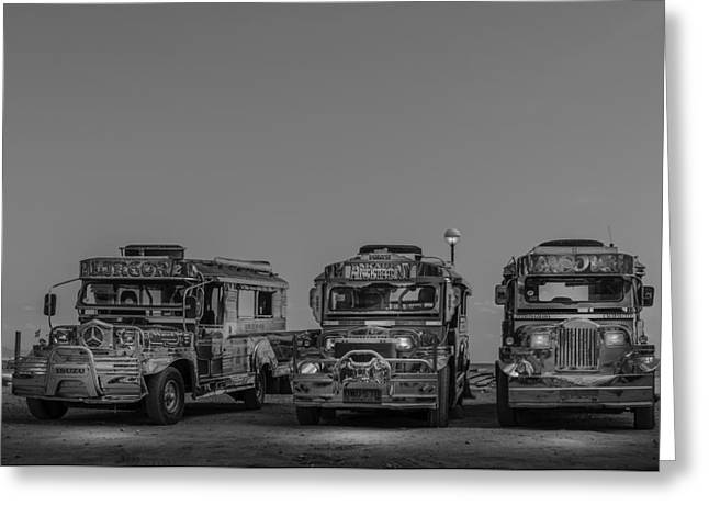 Asien Greeting Cards - Jeepneys Of The Philippines Greeting Card by Colin Utz