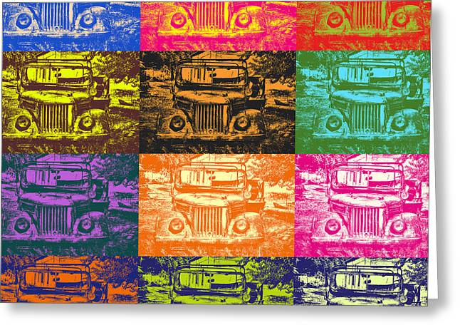 Quirky Greeting Cards - Jeeps that Pop Greeting Card by Emily Enz