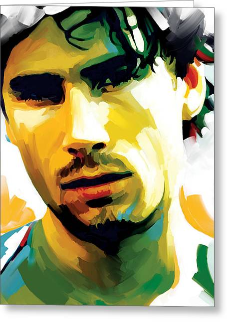 Jeff Mixed Media Greeting Cards - Jeff Buckley Artwork 2 Greeting Card by Sheraz A