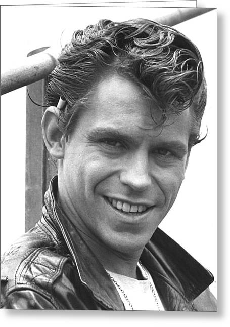 Musical Film Greeting Cards - Jeff Conaway in Grease  Greeting Card by Silver Screen