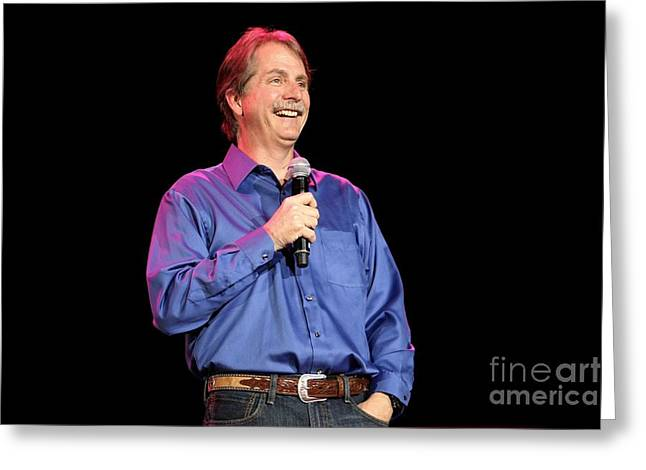 Jeff Foxworthy Greeting Cards - Comedian Jeff Foxworthy Greeting Card by Front Row  Photographs