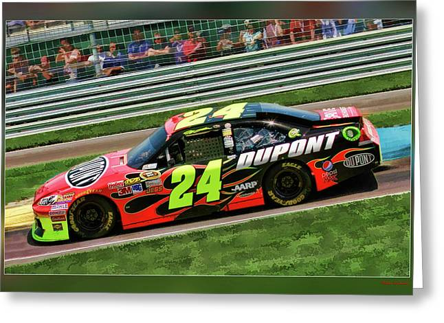 Jeff Gordon Greeting Cards - Jeff Gordon Greeting Card by Blake Richards