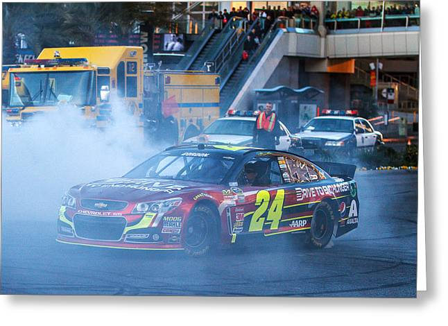 Jeff Gordon Greeting Cards - Jeff Gordon Greeting Card by James Marvin Phelps