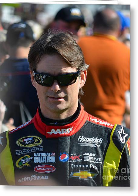 Jeff Gordon Greeting Cards - Jeff Gordon Greeting Card by Mark Spearman