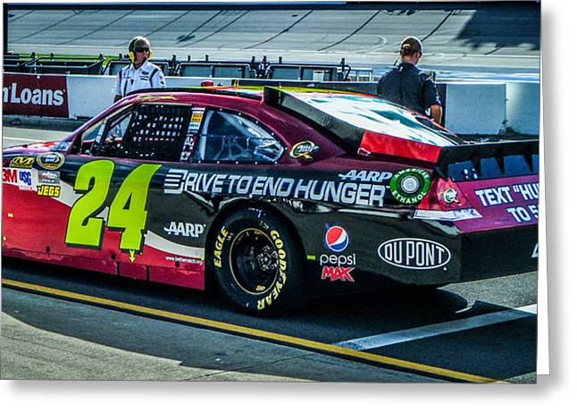 Jeff Gordon Greeting Cards - Jeff Gordon Pit Road Greeting Card by Alex Cianfarani