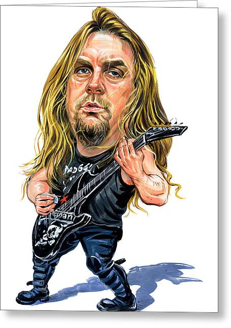 Awesome Greeting Cards - Jeff Hanneman Greeting Card by Art