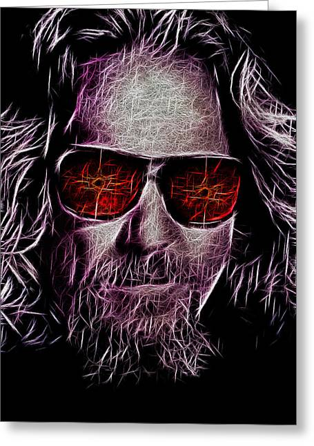 Jeff Greeting Cards - Jeff Lebowski - The Dude Greeting Card by Bill Cannon