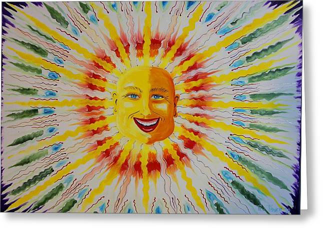 Prisma Colored Pencil Paintings Greeting Cards - Jeffer Sun Greeting Card by Ru Tover