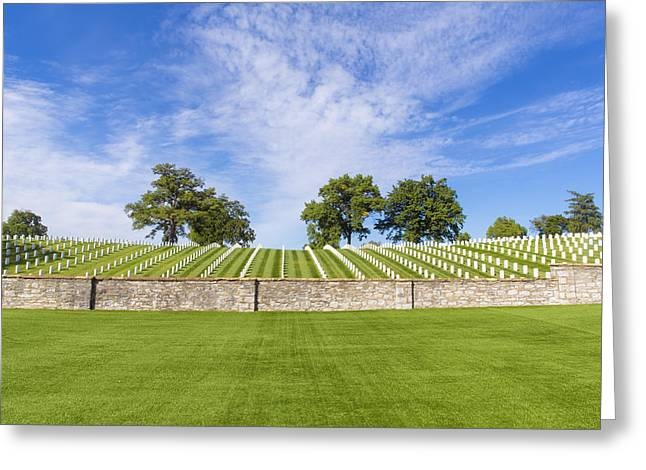 National Cemetery Greeting Cards - Jefferson Barracks National Cemetery Greeting Card by Bill Tiepelman