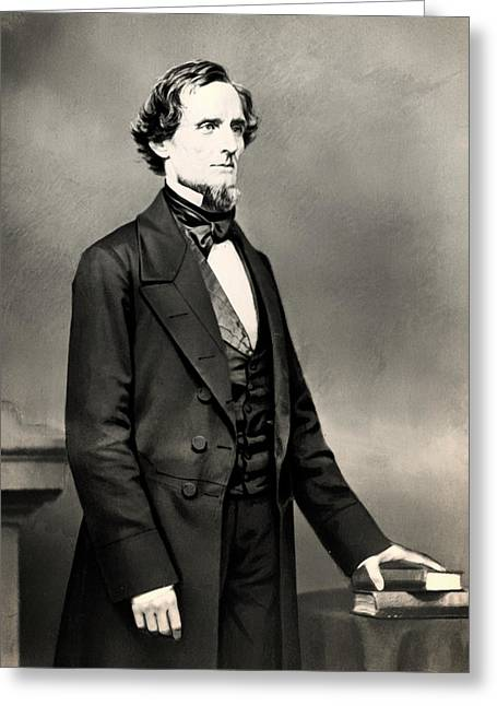 American Politician Greeting Cards - Jefferson Davis Greeting Card by Mountain Dreams