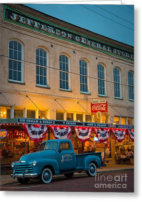 Parking Greeting Cards - Jefferson General Store Greeting Card by Inge Johnsson
