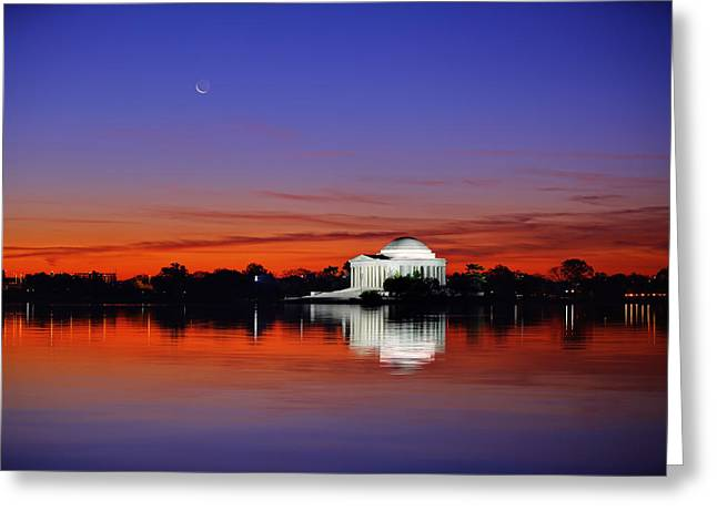 Jefferson Memorial At Dawn Greeting Card by Metro DC Photography