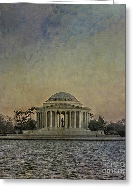 Jefferson Greeting Cards - Jefferson Memorial at Dusk Greeting Card by Terry Rowe
