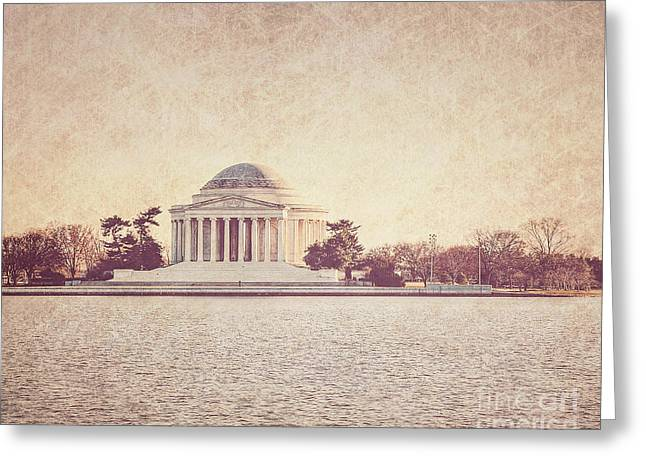 Us Capital Greeting Cards - Jefferson Memorial  Greeting Card by Emily Enz