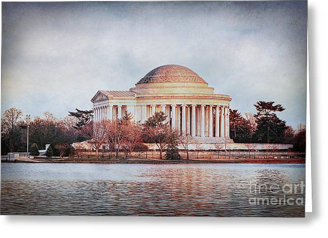 Us Capital Greeting Cards - Jefferson Memorial in DC Greeting Card by Emily Enz