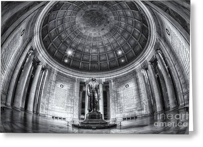 D.w Greeting Cards - Jefferson Memorial Interior II Greeting Card by Clarence Holmes