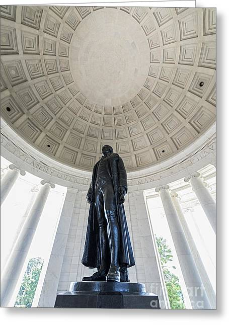 U S Founding Father Greeting Cards - Jefferson Memorial Greeting Card by John Greim