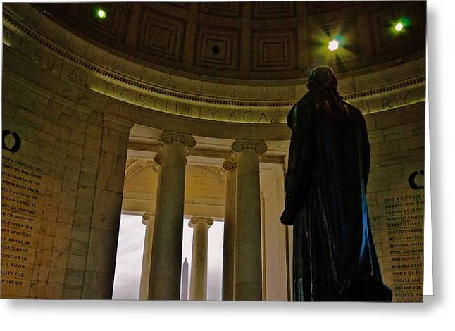 Jefferson Memorial Photographs Greeting Cards - Jefferson Memorial  Greeting Card by John Harding Photography