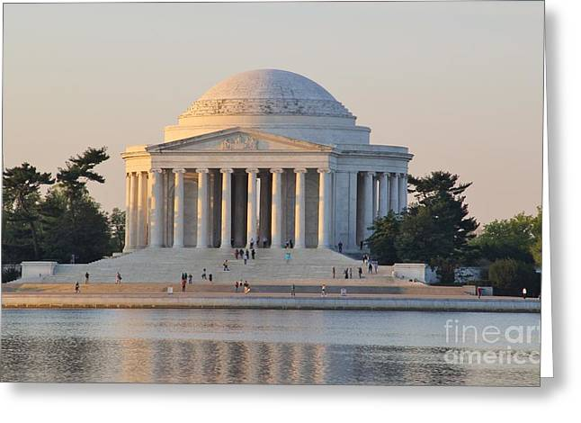 Washingtondc Greeting Cards - Jefferson Memorial Greeting Card by Laurie Tracy