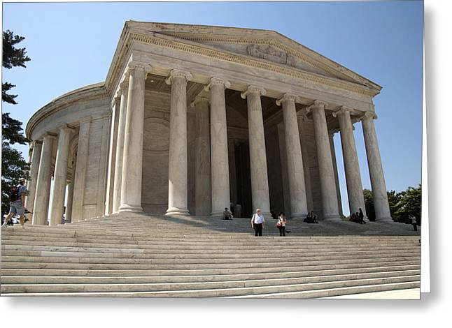 Jefferson Memorial Photographs Greeting Cards - Jefferson Memorial Steps Greeting Card by Wayne Sheeler