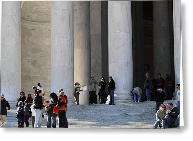 Independence Greeting Cards - Jefferson Memorial - Washington DC - 01132 Greeting Card by DC Photographer
