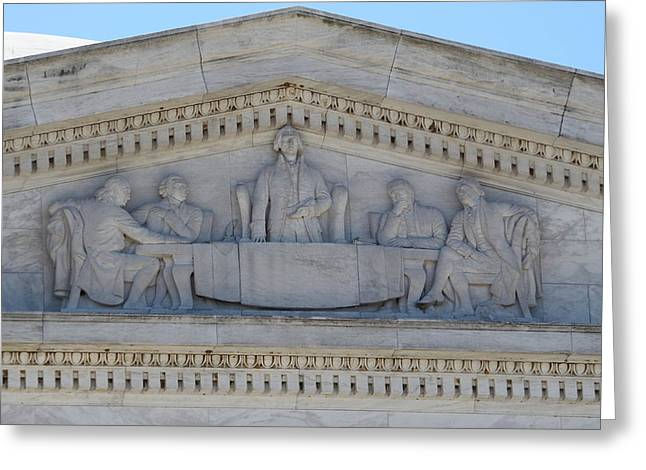 Marble Greeting Cards - Jefferson Memorial - Washington DC - 01133 Greeting Card by DC Photographer