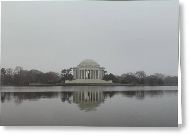 Pond Photographs Greeting Cards - Jefferson Memorial - Washington DC - 01136 Greeting Card by DC Photographer