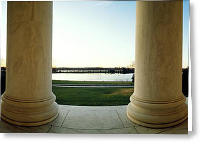 Repetition Greeting Cards - Jefferson Memorial Washington Dc Greeting Card by Panoramic Images