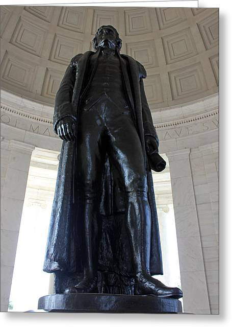 Carolyn Stagger Cokley Greeting Cards - Jefferson Memorial2 Greeting Card by Carolyn Stagger Cokley