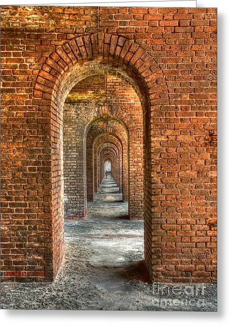 Dry Tortugas National Park Greeting Cards - Jeffersons Arches Greeting Card by Marco Crupi