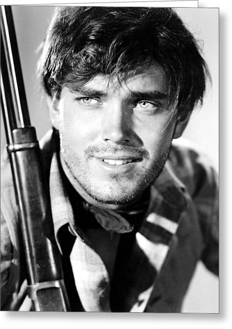 1950 Movies Greeting Cards - Jeffrey Hunter in The Searchers Greeting Card by Silver Screen