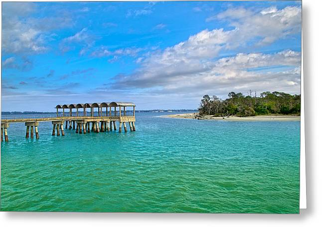 Jekyll Island Just Like Paradise Greeting Card by Betsy Knapp