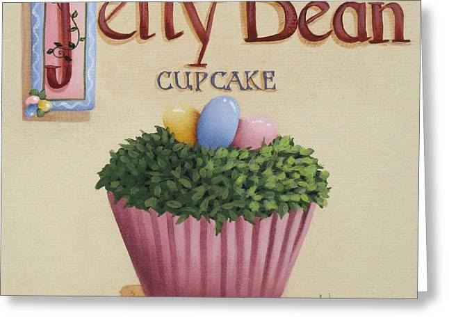 Catherine Holman Greeting Cards - Jelly Bean Cupcake Greeting Card by Catherine Holman