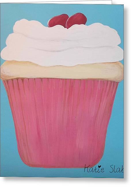 Party Invite Paintings Greeting Cards - Jelly Bean Cupcake Greeting Card by Katie Slaby
