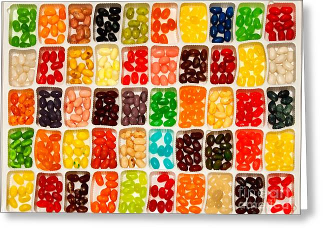 Jelly Beans Greeting Card by Anne Kitzman