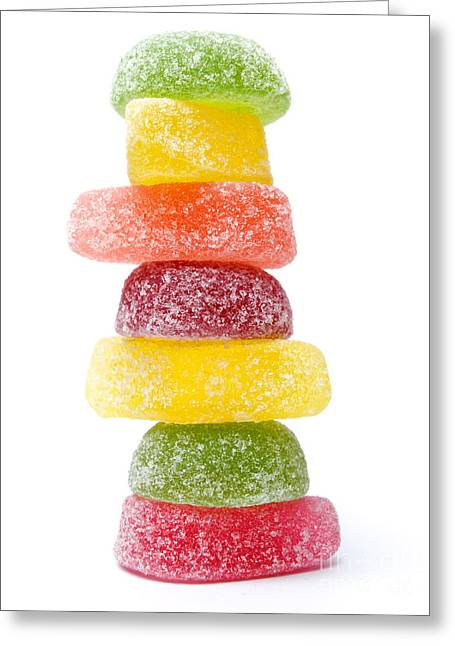 Sweetmeats Greeting Cards - Jelly candies Greeting Card by Sinisa Botas