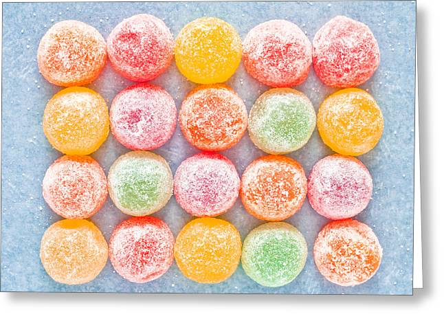 Chewing Greeting Cards - Jelly sweets Greeting Card by Tom Gowanlock