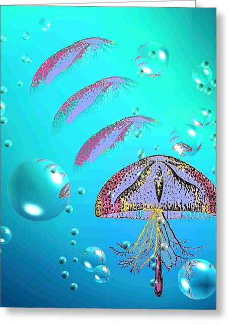 Best Ocean Photography Greeting Cards - Jellyfish A1A Greeting Card by Joyce Dickens