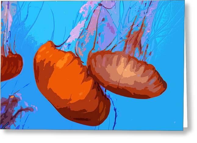 Jellyfish Art Greeting Cards - Jellyfish Greeting Card by Carol McCarty