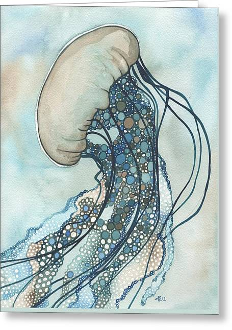 Jellyfish Two Greeting Card by Tamara Phillips
