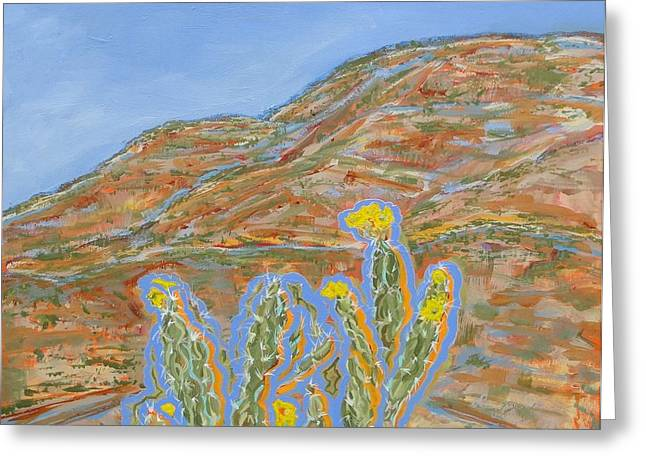 Jo Anne Neely Gomez Paintings Greeting Cards - Jemez Cholla Greeting Card by Jo Anne Neely Gomez
