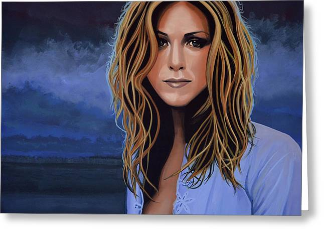 Him Greeting Cards - Jennifer Aniston Greeting Card by Paul  Meijering