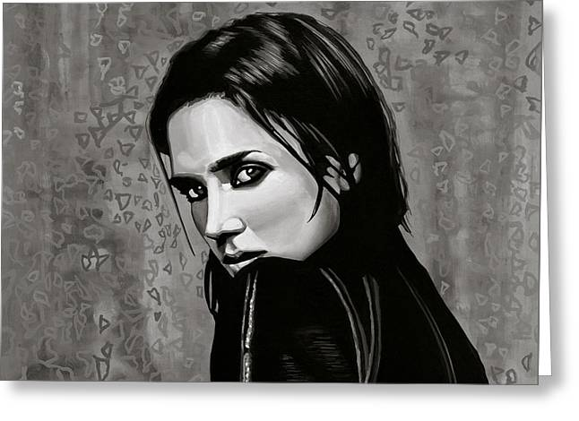 American Film Greeting Cards - Jennifer Connelly Greeting Card by Paul Meijering