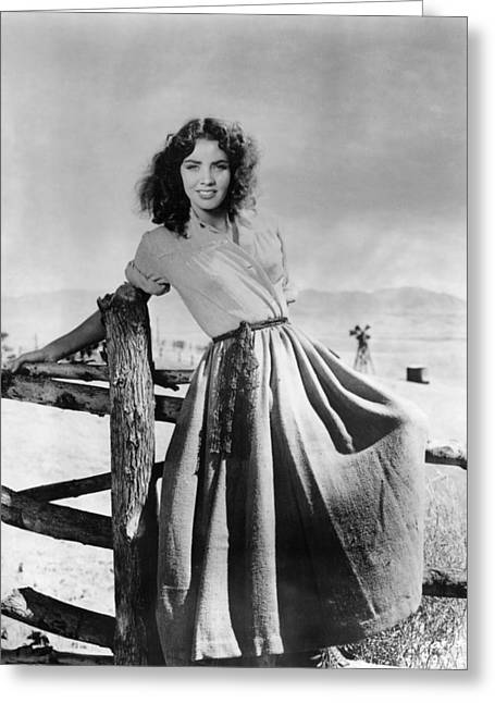 1940 Movies Greeting Cards - Jennifer Jones in Duel in the Sun  Greeting Card by Silver Screen