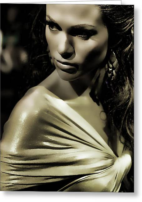 Recording Artists Greeting Cards - Jennifer Lopez Greeting Card by Lee Dos Santos