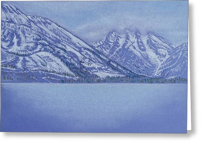 Violet Blue Pastels Greeting Cards - Jenny Lake - Grand Tetons Greeting Card by Michele Myers