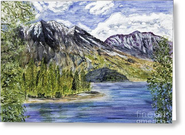 Snow-covered Landscape Greeting Cards - Jenny Lake Painting Greeting Card by Timothy Hacker