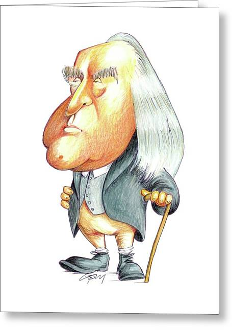 Jeremy Bentham Greeting Card by Gary Brown