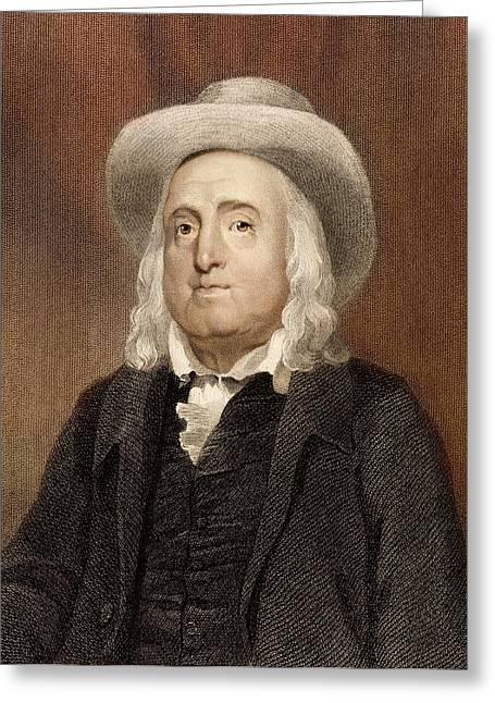 Jeremy Bentham Greeting Card by Paul D Stewart